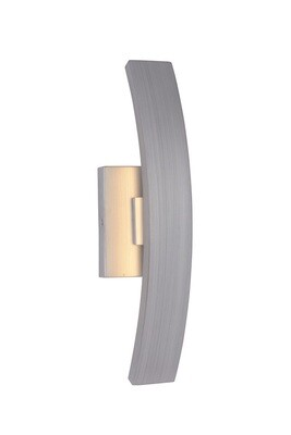 Arcus Brush Aluminum Small 1 Lt LED Exterior Wall Mount