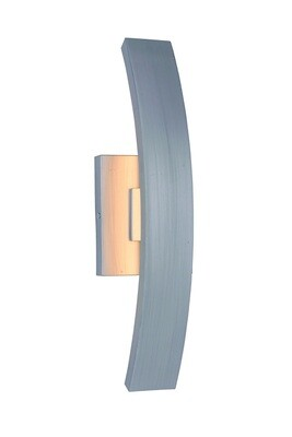 Arcus Brush Aluminum Med 1 Lt LED Exterior Wall Mount