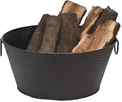 Black Steel Log Bucket