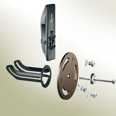Old World Bronze Securemount Grab Bar Anchors 2Pc