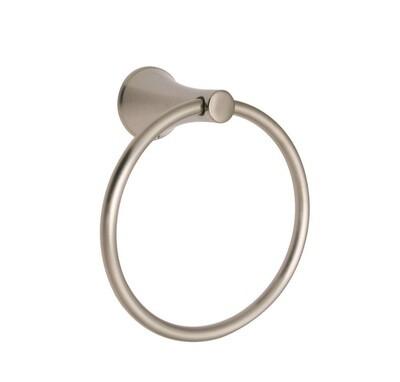 Carmel Satin Nickel Towel Ring