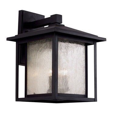 Grove Black Large 3Lt Exterior Wall Lantern