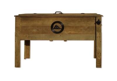 Rustic Wooden Patio 87 Qt Cooler