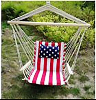 Patriotic Hanging Chair w/Pillow & Arms