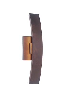 Arcus Aged Copper Small 1 Lt LED Exterior Wall Mount