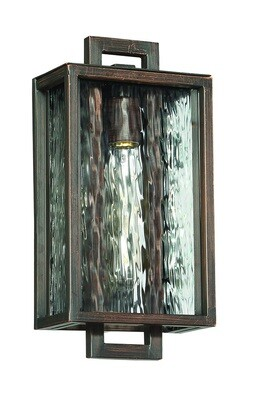 Cubic Aged Bronze Small 1 Lt Exterior Pocket Sconce