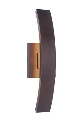 Arcus Aged Copper Med 1 Lt LED Exterior Wall Mount