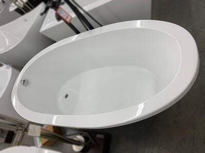 White Oval Drop In Soaker Tub