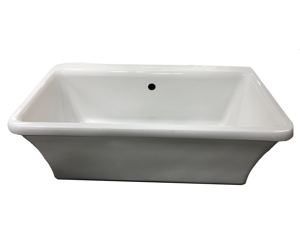 White Rectangle Free Standing Tub