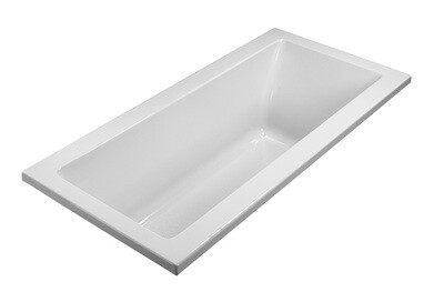 White Rectangle Drop In Soaker Tub