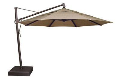 Cantilever Bronze Octagon Double Wind Canopy