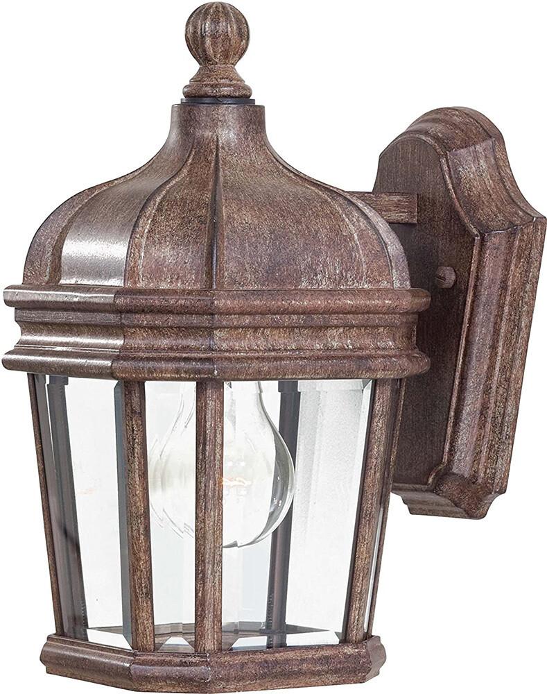 Harrison Vintage Rust Small Exterior 1 Lt Wall Lantern