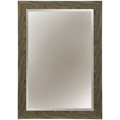 Wood Grain Grey Mirror