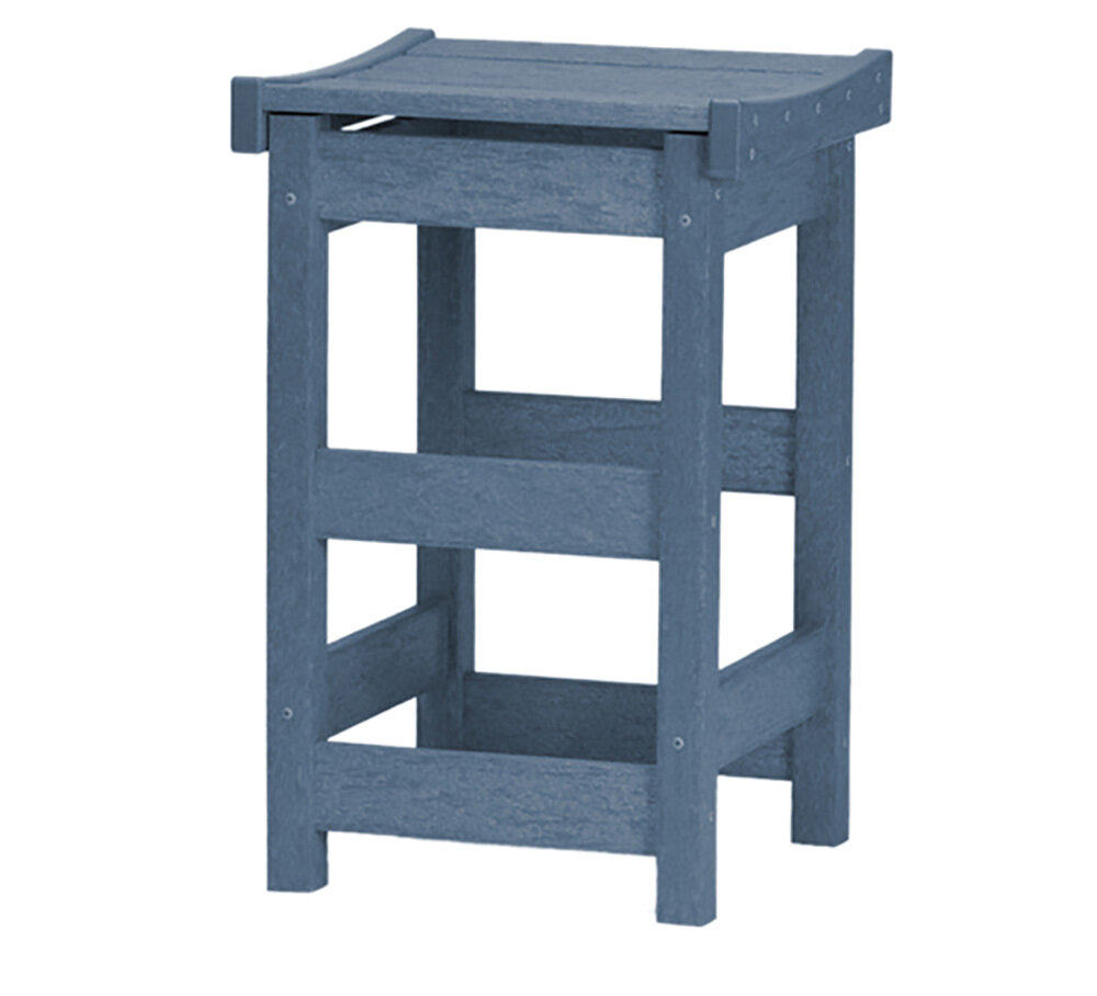 Contoured Counter Stool Colonial Blue/Colonial Blue