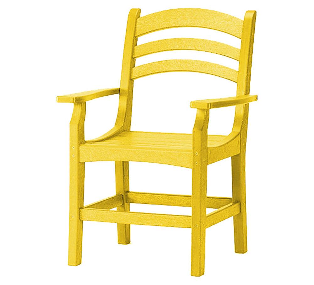 Avanti Captain Dining Chair w/Arms Lemon