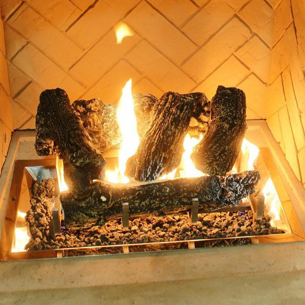 Log Set w/Grate Lava Rock For CF-1224BU