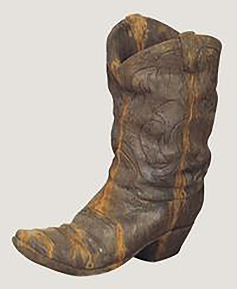 Rust Western Boot Planter
