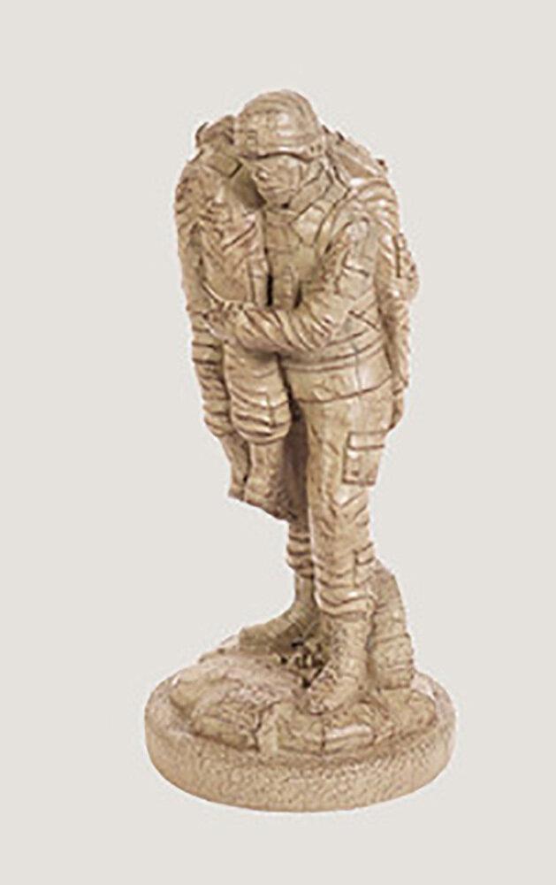 Desert Brown None Left Behind Statue