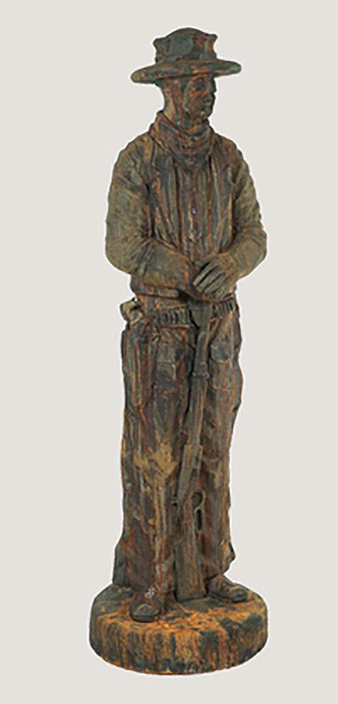 Rust Western Statue
