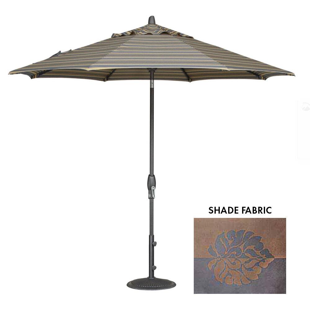 11' Auto-Tilt Bronze Octagon Double Wind Umbrella
