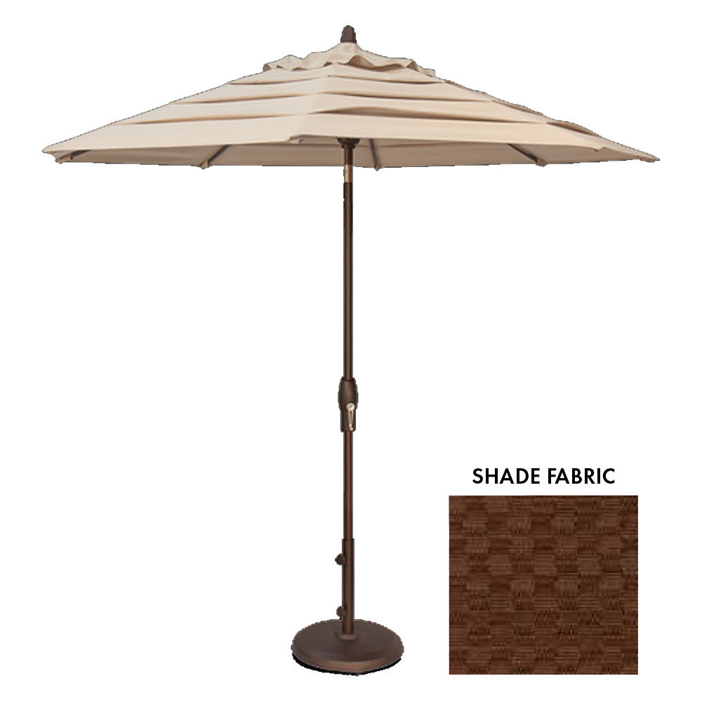9' Octagon Courtyard Cabo Stripe Auto-Tilt Umbrella