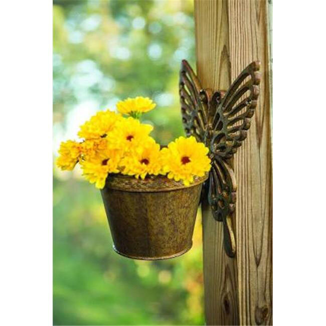 Ij Veranda Iron Butterfly Wall Flower Pot