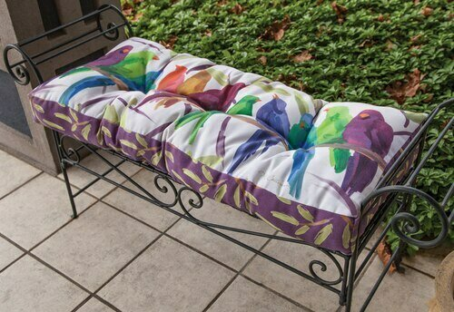 Flocked Together Climaweave Bench Cushion