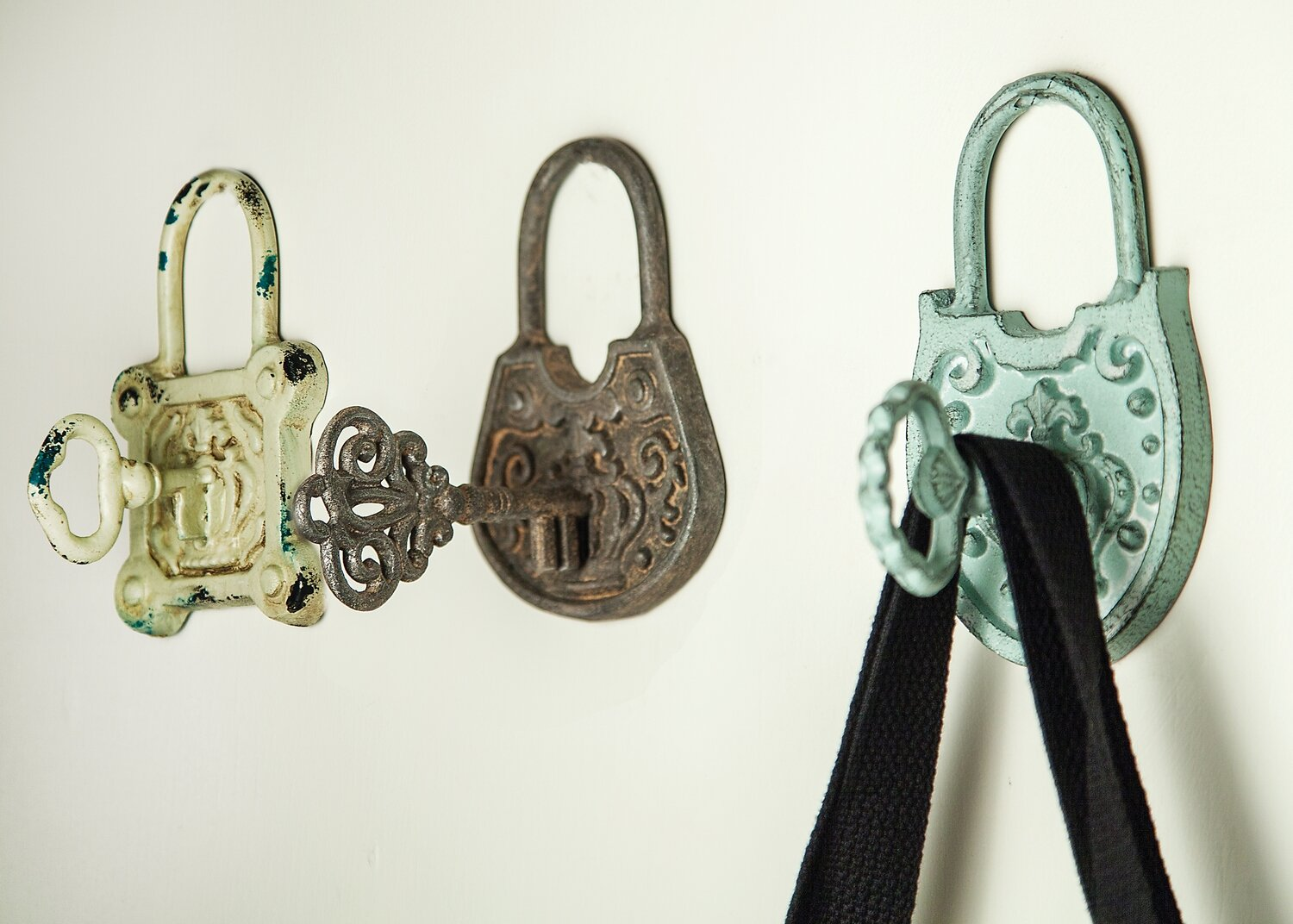Vintage Lock Cast Iron Wall Hook Assorted