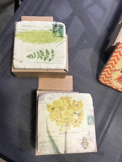 Garden Flowers Set Of 4 Coasters