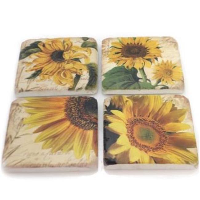 Harvest Moon Sunflower Set Of 4 Cstrs