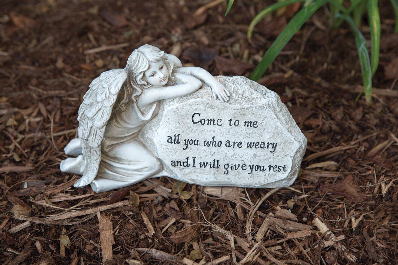 Weary Angel Memorial Stone