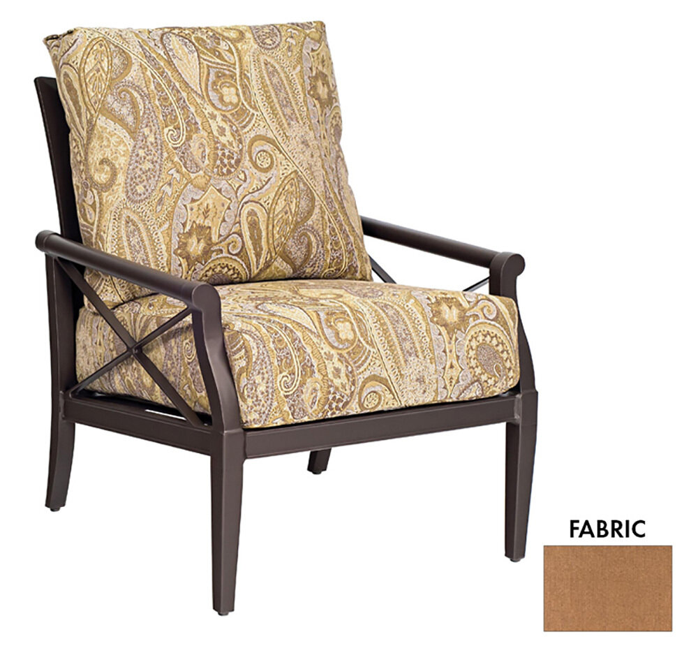 Andover Twilight / Linen Sesame Lounge Chair