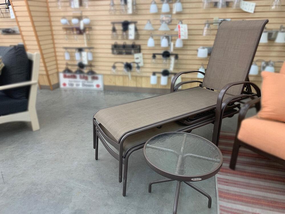 Bronze 3 PC Set Lounge w/Side Table