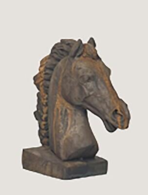 Rust Square Base Horse Head