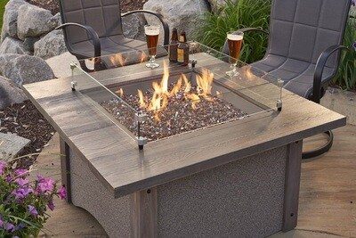 Pine Ridge Square Barnwood Fire Table (DISPLAY ONLY)