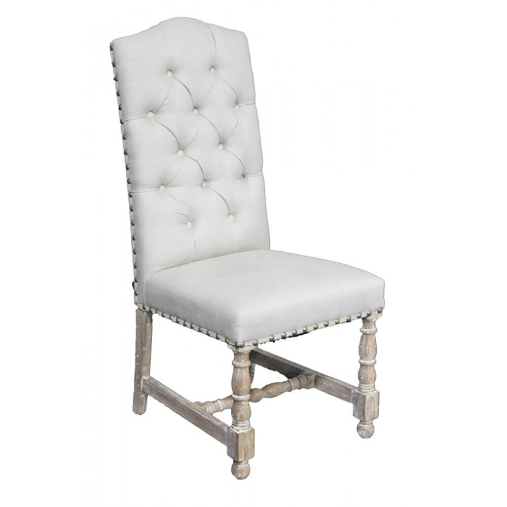 Tufted Armless Side Chair