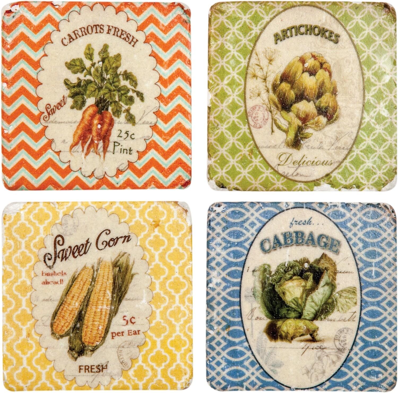 Farm Fresh Set Of 4 Coasters