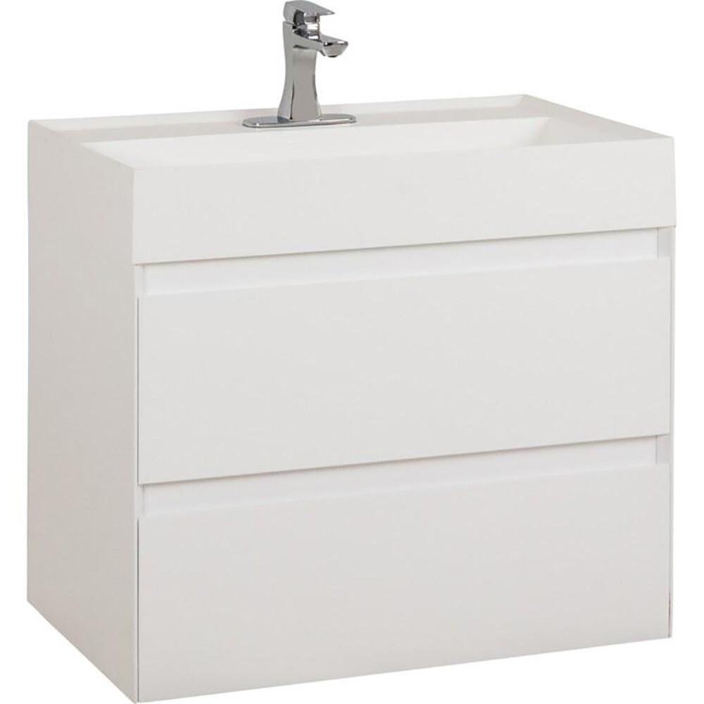 Costrel White Wall Mount Vanity
