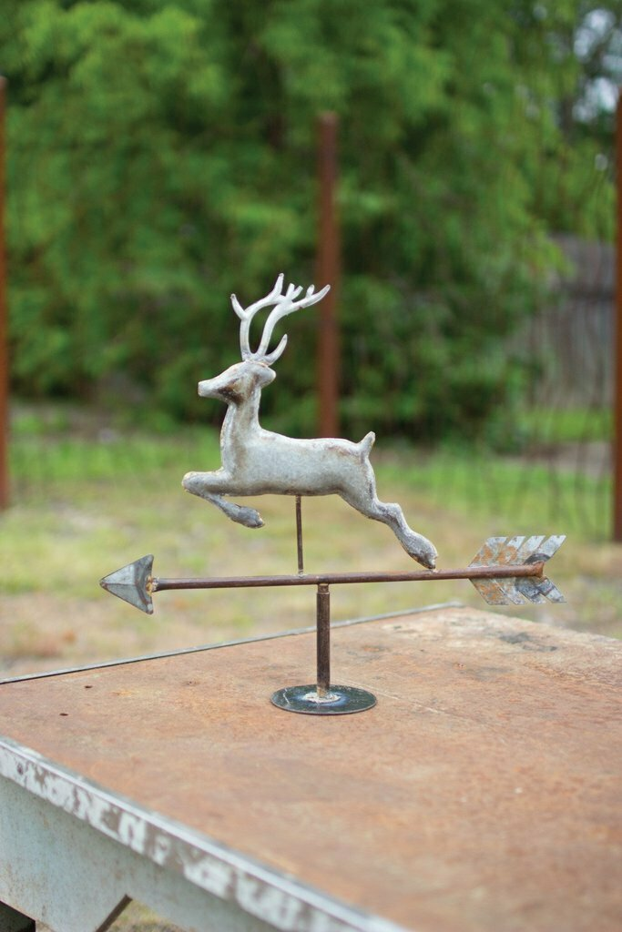 Table Top Galvanized Deer Weathervane