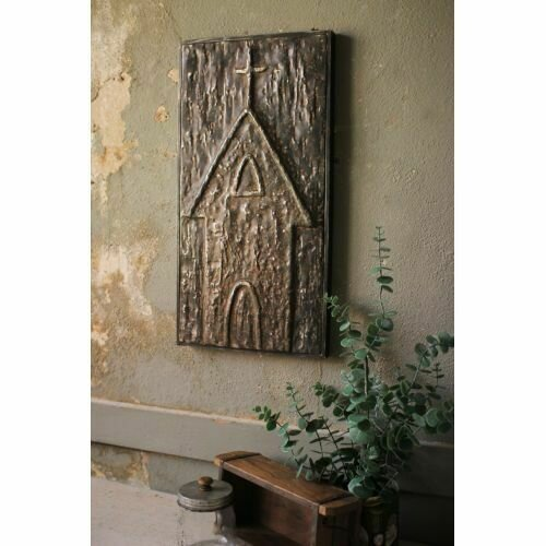 Pressed Metal Church Wall Decor #1