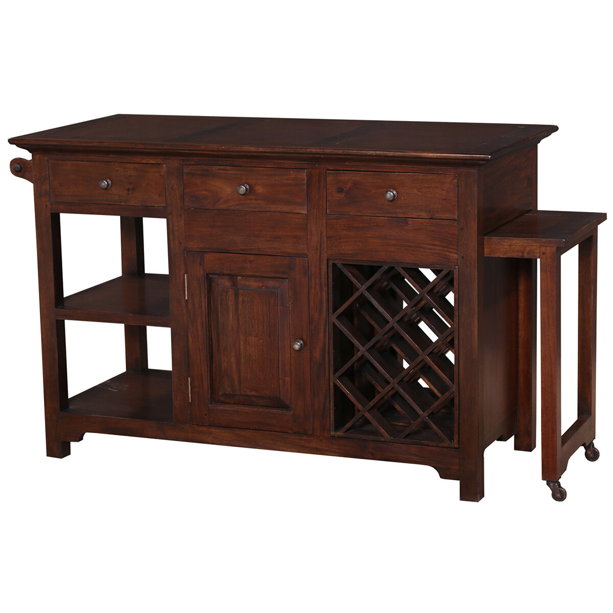 Napa Teak Brown Kitchen Island