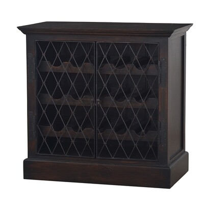 Sanoma Vintage Black Wine Chest