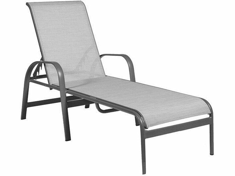 Capri Pebble/Cognac Sling Chaise Lounge
