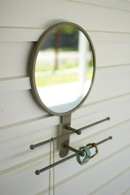 Mirror w/Double Hanging Rods