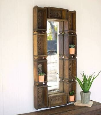 Large Repurposd Rectangle Brick Mold Mirror