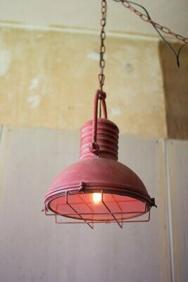 Red Metal 1 Lt Pendant Light