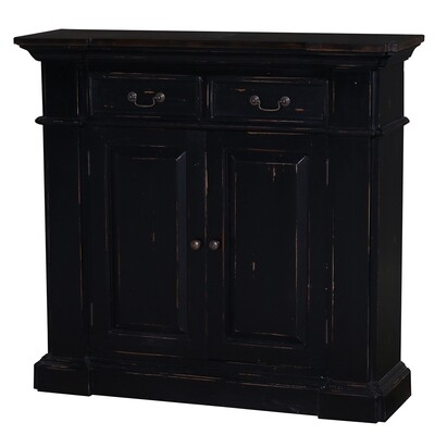 Roosevelt Heavey Distressed Black Small Sideboard