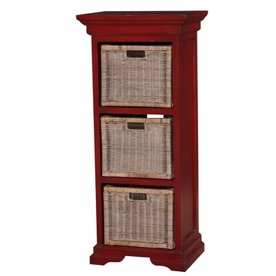 Veranda Deep Red Triple Storage Tower