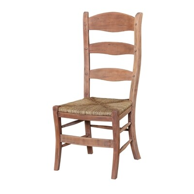 Peg & Dowel Driftwood Ladder Back Chair
