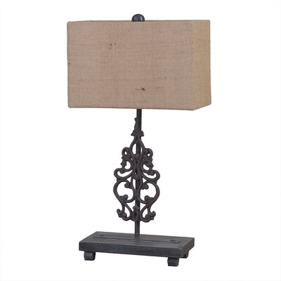 Fleur Natural Rust Table Lamp